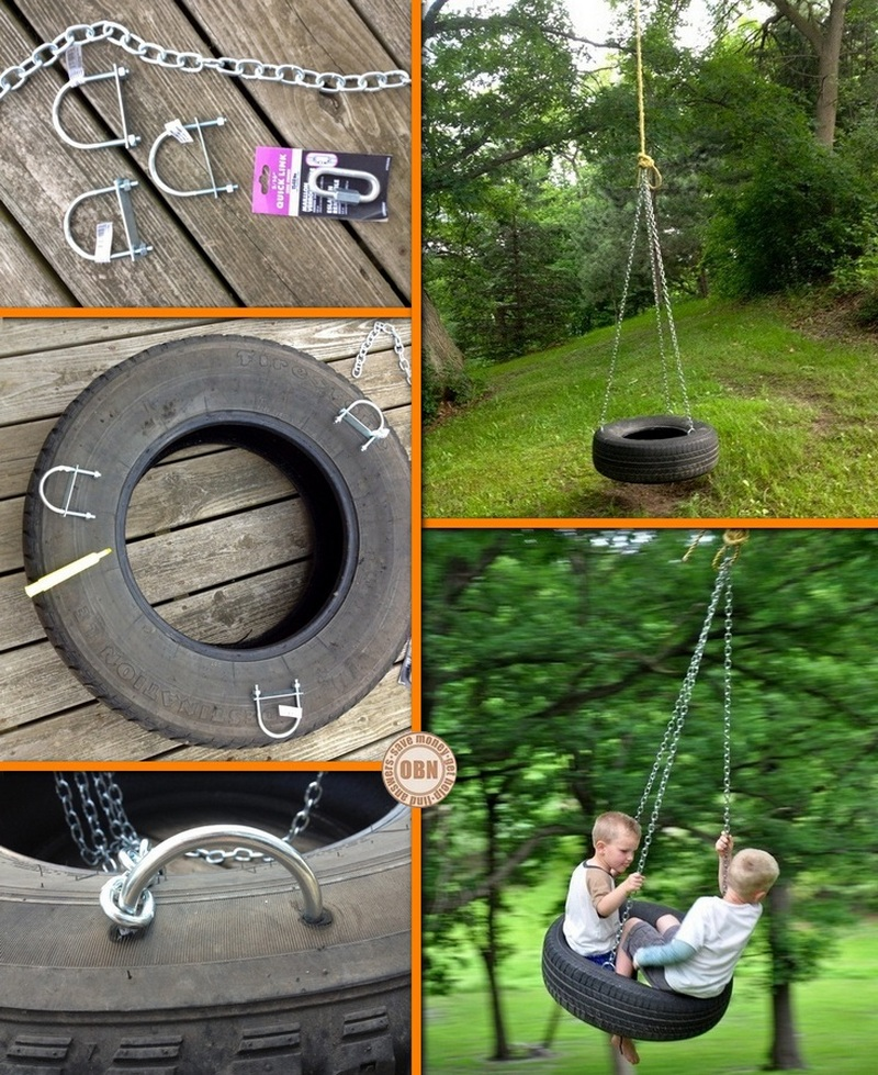 Diy tire swing for Diy tire