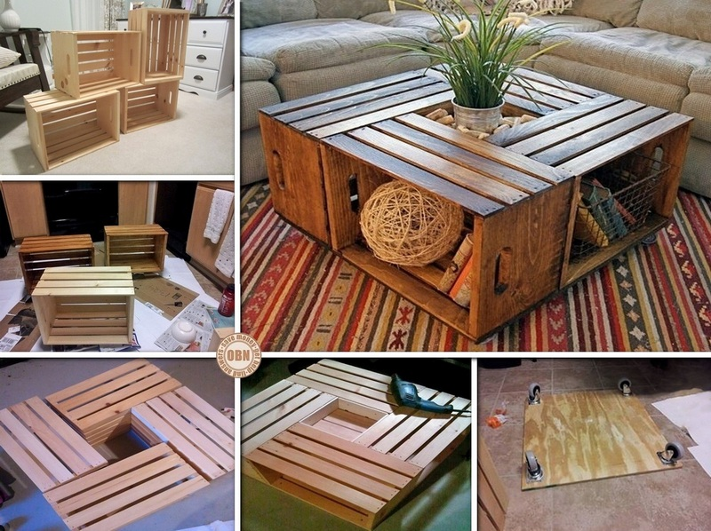 Obn diy wine crate coffee table