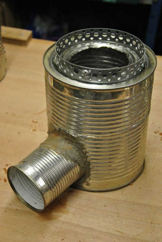 Diy portable tin can rocket stove the owner builder network for Portable rocket stove plans