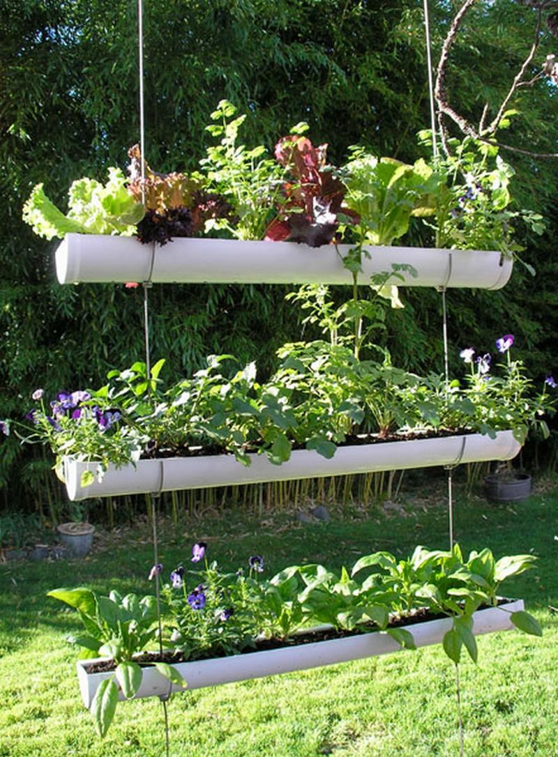 DIY Hanging Gutter Garden | The Owner-Builder Network