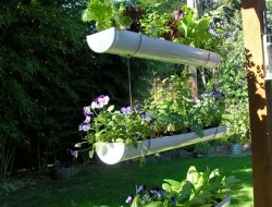Diy Hanging Gutter Garden The Owner Builder Network
