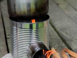Diy portable tin can rocket stove the owner builder network for Heavy duty rocket stove