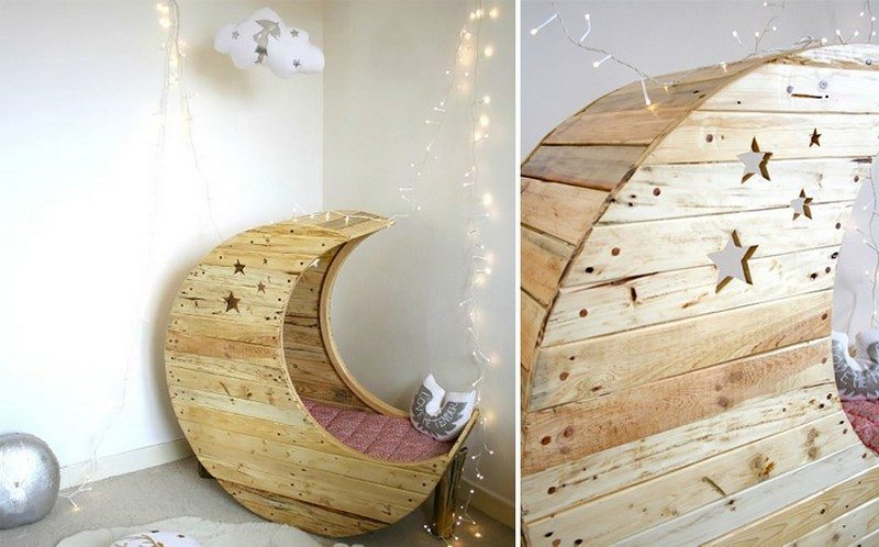 DIY Moon Shaped Cradle