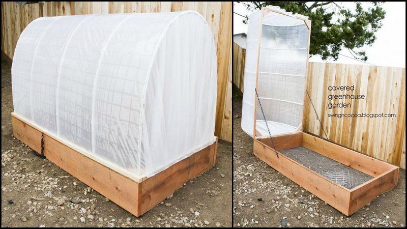 Diy Greenhouse Raised Garden Bed