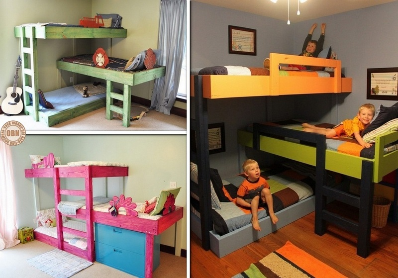 ... triple bunk beds download a diy pvc loft bed plan 23 steps ehow a