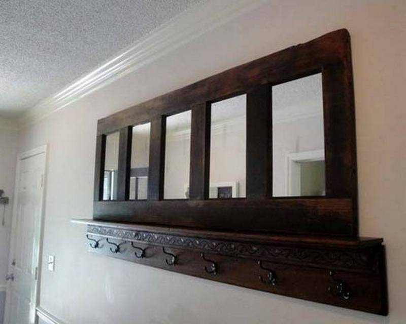 Repurposed door hallway mantle the owner builder network for Hallway mirror and shelf