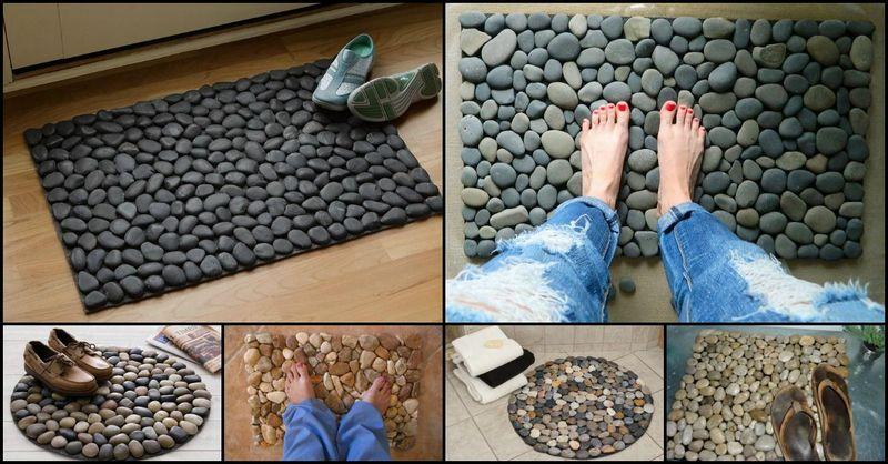 How To Make A Diy River Rock Doormat