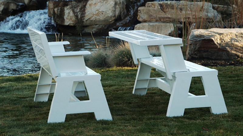 Woodwork flip top picnic table bench plans plans pdf for Flip top picnic table plans