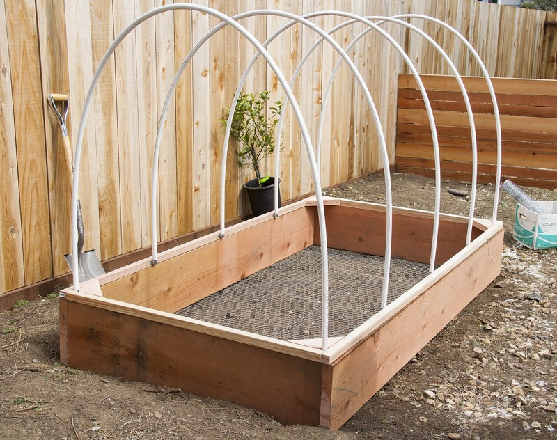 diy greenhouse raised garden bed | the owner-builder network