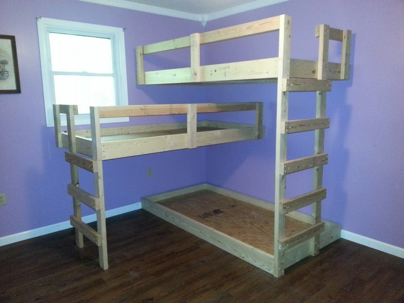 Blueprints For Triple Bunk Beds Download Plan