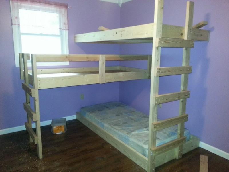 DIY Triple Bunk Bed   The Owner-Builder Network