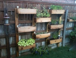DIY Vertical Wooden Box Planter