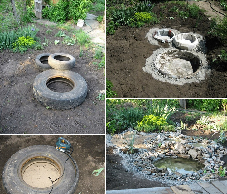 Easy Outdoor Water Features : Thanks to Dokuchaevsk for this great project You can get step by step