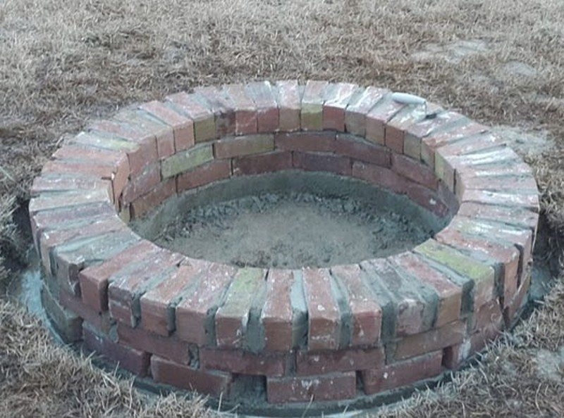 simple brick firepit you can build in a weekend