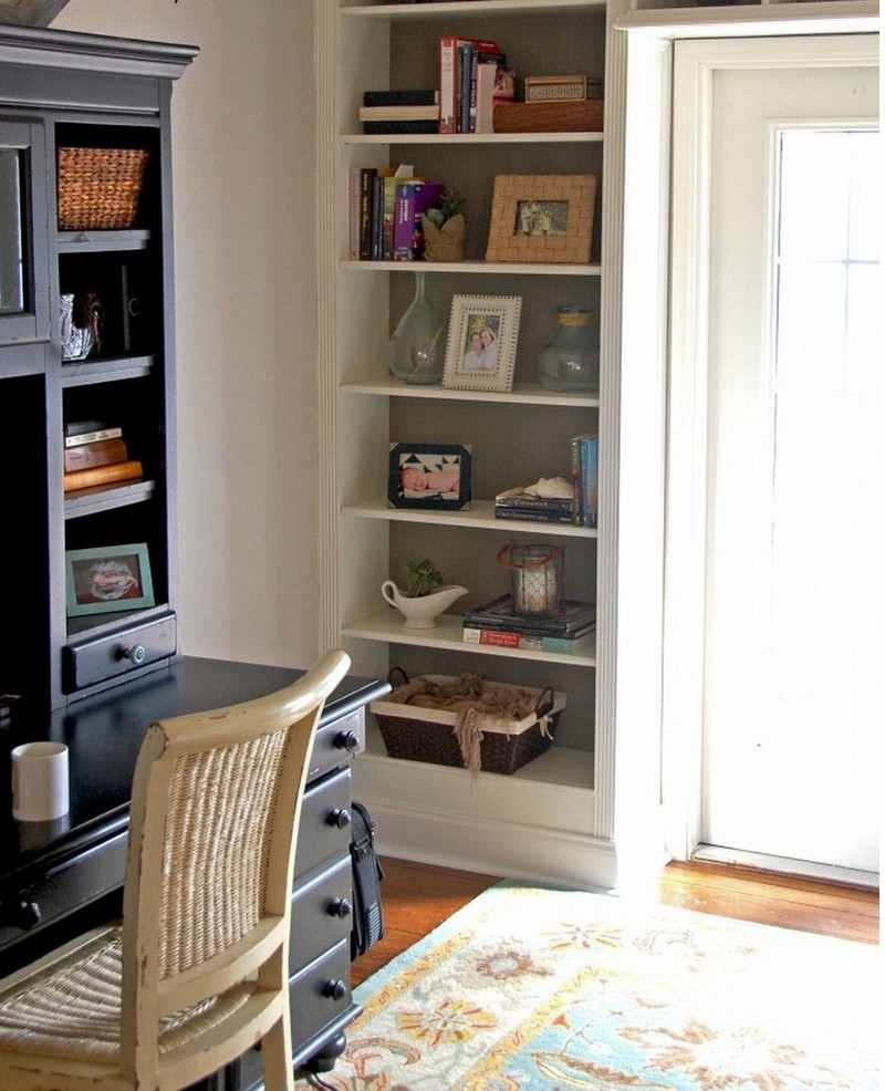 DIY Built Bookshelves 800 x 986