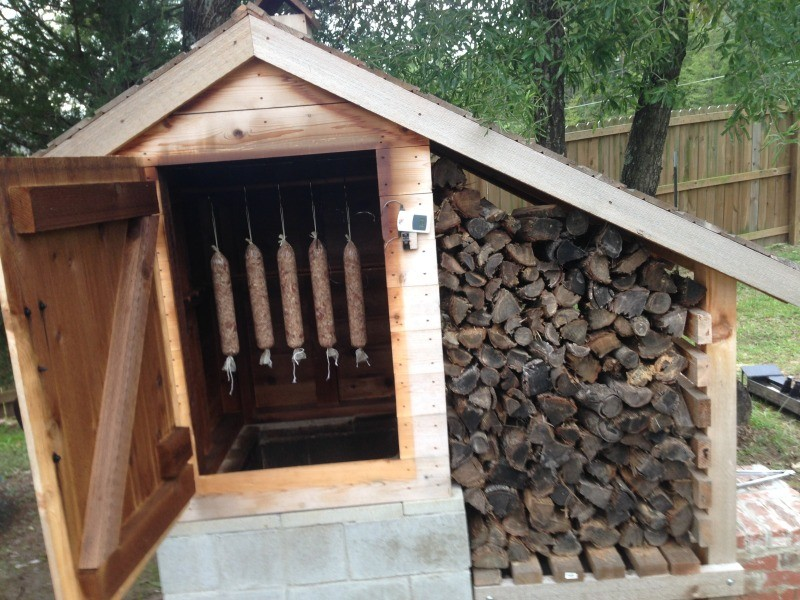 how to build a cedar smokehouse the owner builder network Smokehouse Plans with Cinder Blocks Building a Smokehouse