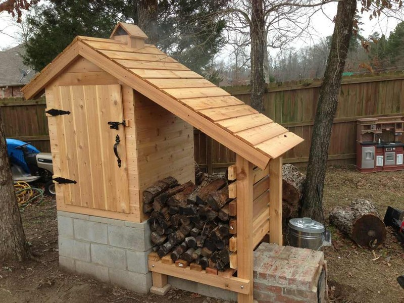 Homesteading gardening on pinterest root cellar chicken feeders and smokehouse - Building your own brick smokehouse in easy steps ...