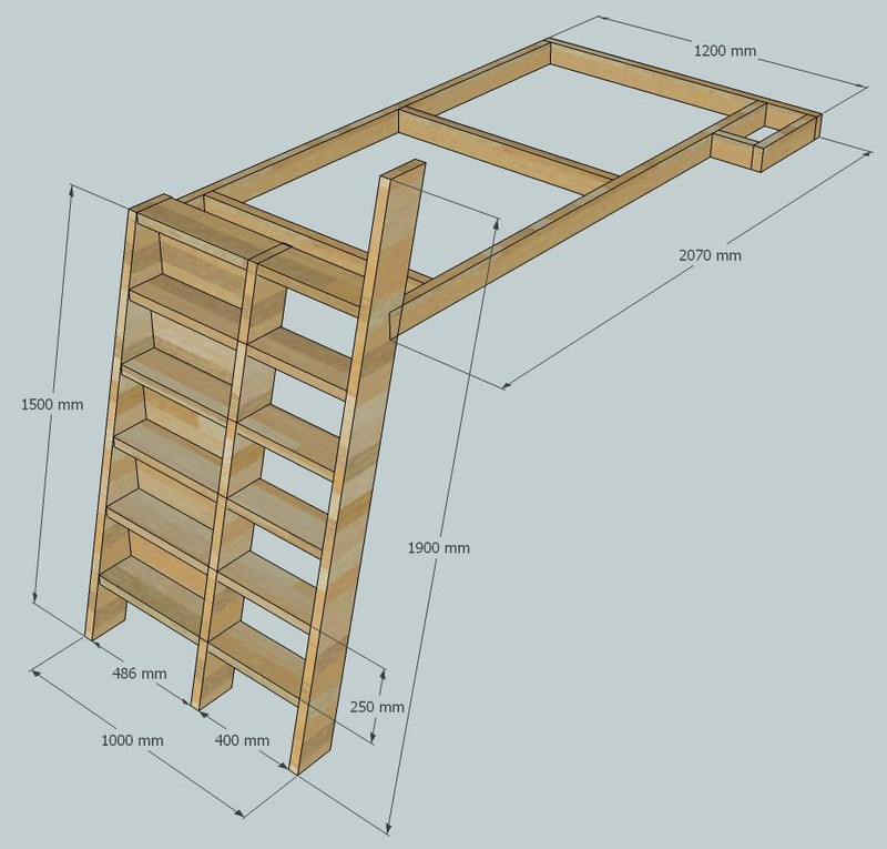 Bodacious Bunk Beds on Pinterest | Bunk Bed, Lofted Beds and Bed Plans