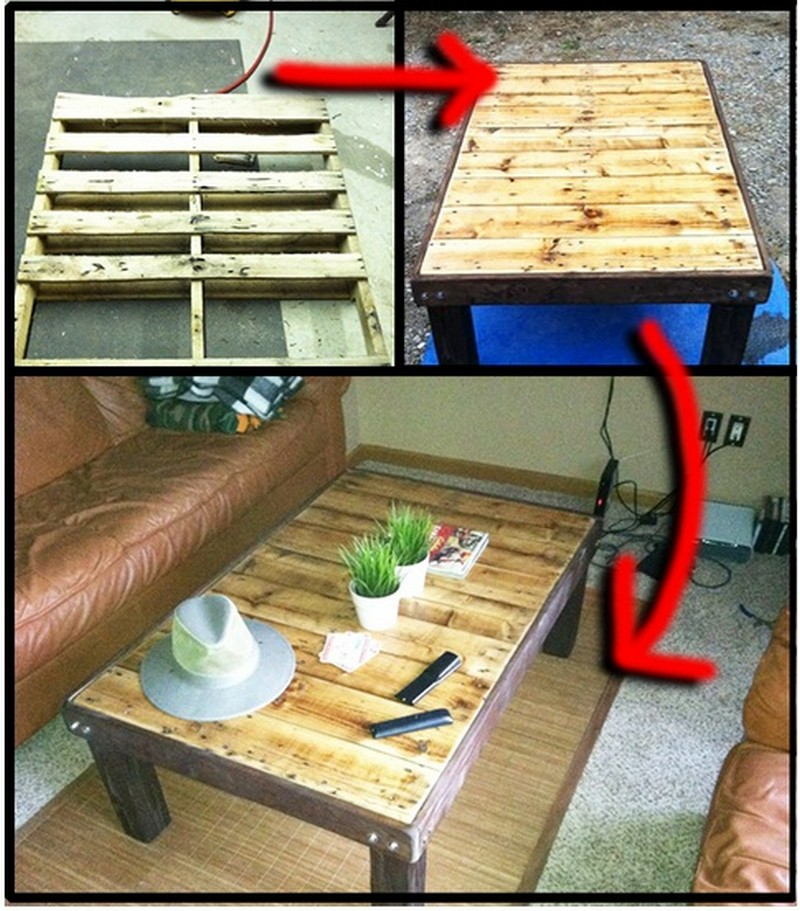 Diy pallet coffee table the owner builder network for Diy pallet projects with instructions