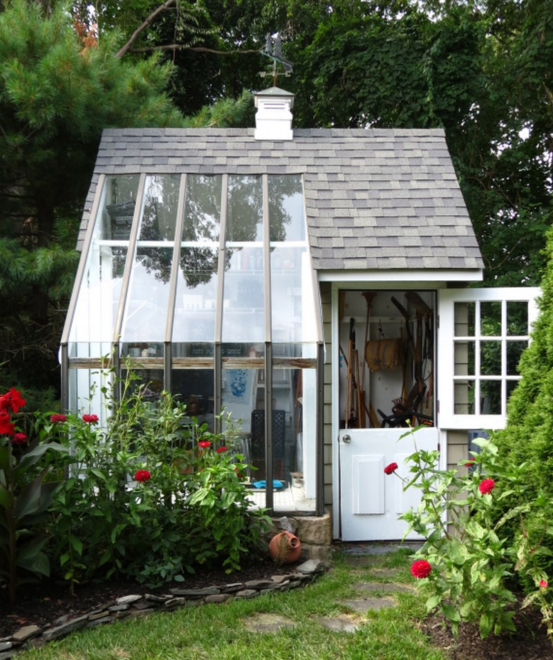 only is it a potting shed, it is also used as a garden tool storage ...