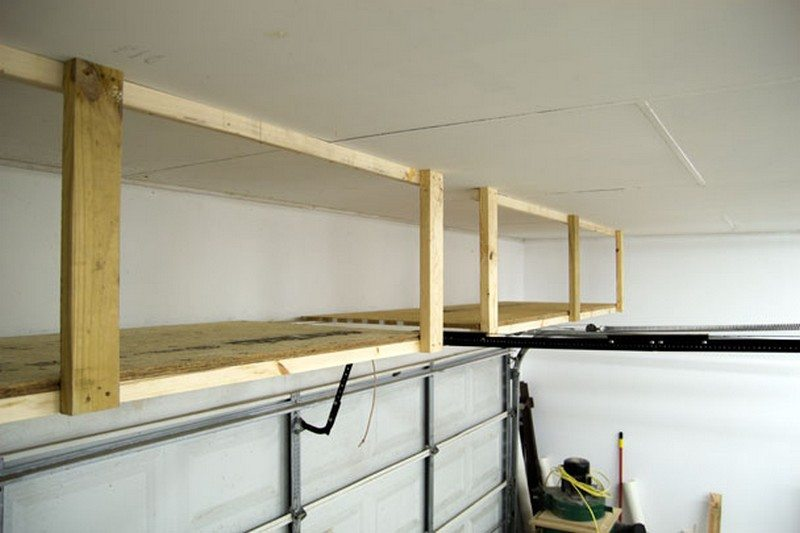diy garage ceiling storage the owner builder network. Black Bedroom Furniture Sets. Home Design Ideas