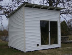 How To Build A DIY Pallet Shed- Completed building