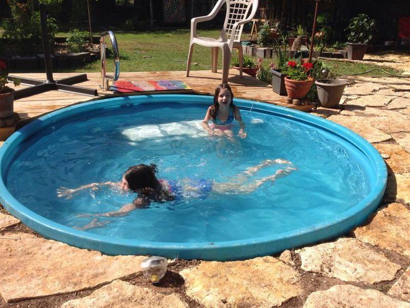 Livestock tank turned diy pool the owner builder network - Convert swimming pool to rainwater tank ...