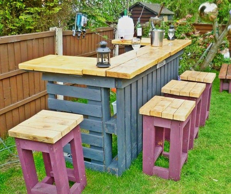 outdoor pallet bar instructions