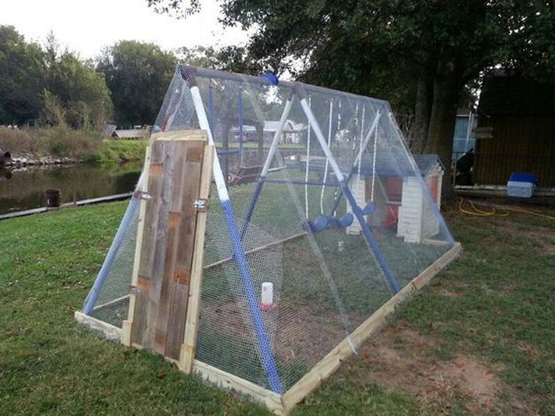 Diy Repurposed Swing Set Chicken Coop The Owner Builder