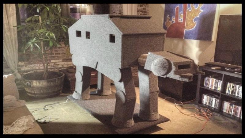 DIY AT AT Cat House