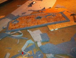 DIY AT AT Cat House - Carpeting the Plywood