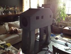 DIY AT AT Cat House - Back View