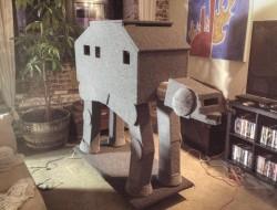 DIY AT AT Cat House - Finished AT AT Cat House