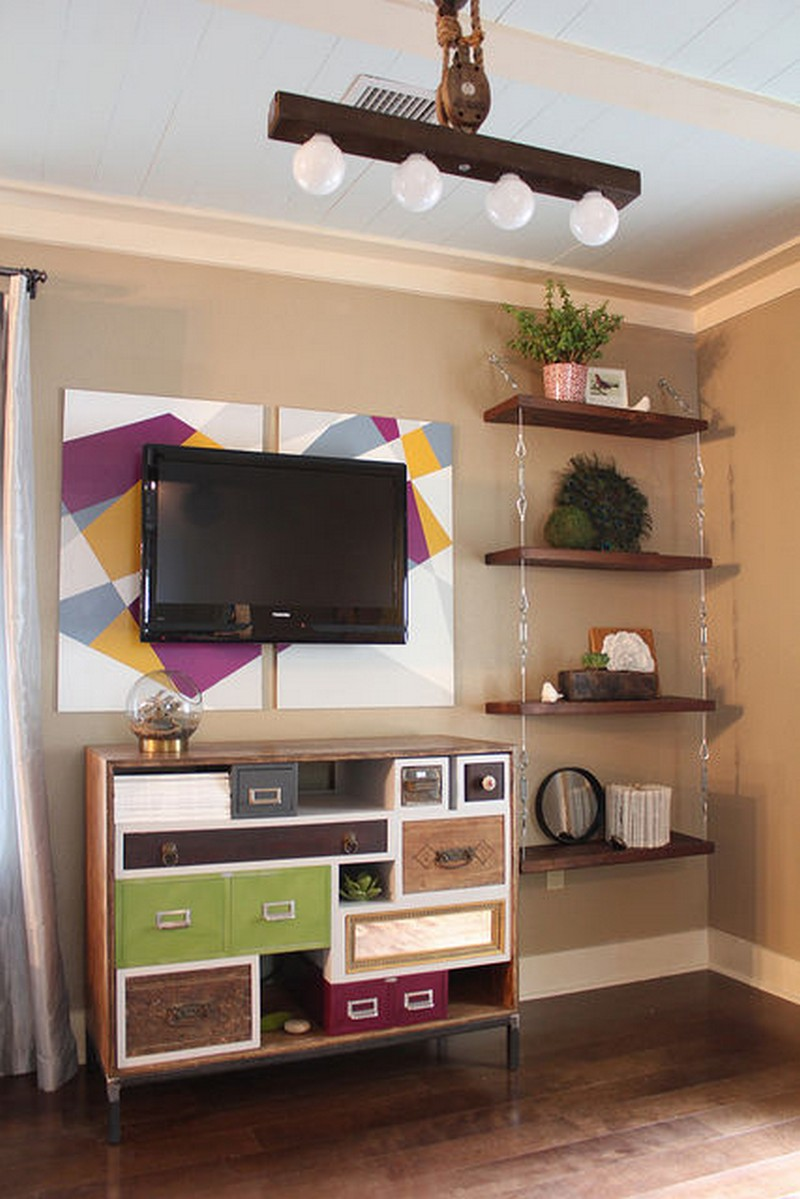 how to make storage shelves with recyclables