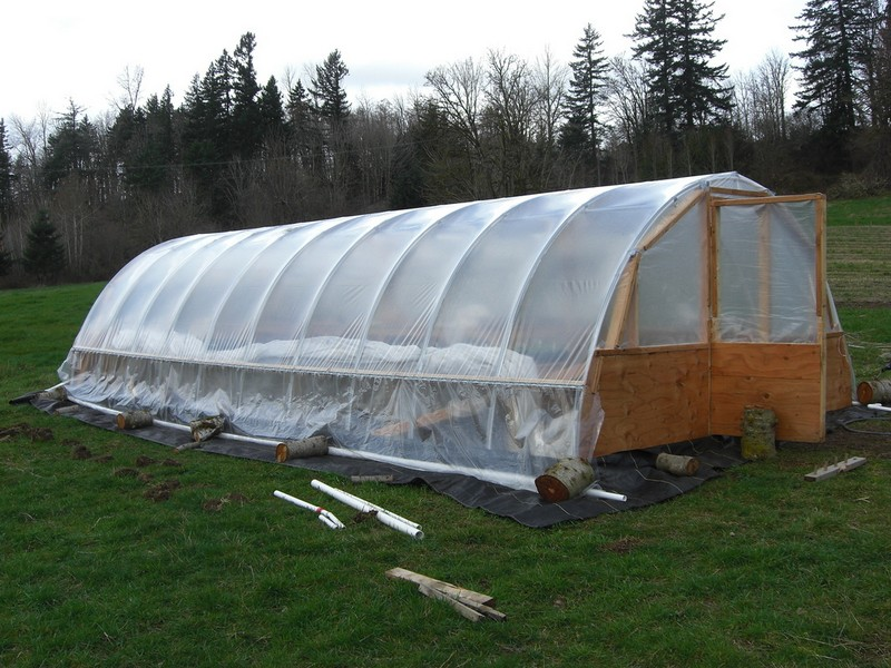 Diy Hoop Greenhouse The Owner Builder Network