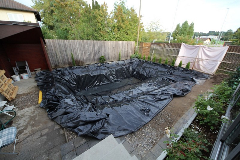 Swimming ponds search results the owner builder network for Homemade pond liner
