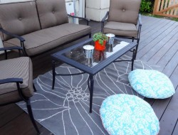 DIY Platform Deck - Outdoor seating area