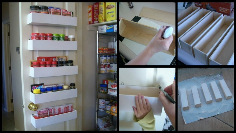 Diy pantry door spice racks for Cost to build a pantry
