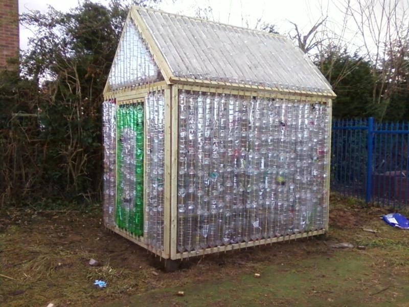 Repurposed plastic bottle greenhouses the owner builder for Homemade greenhouse plastic