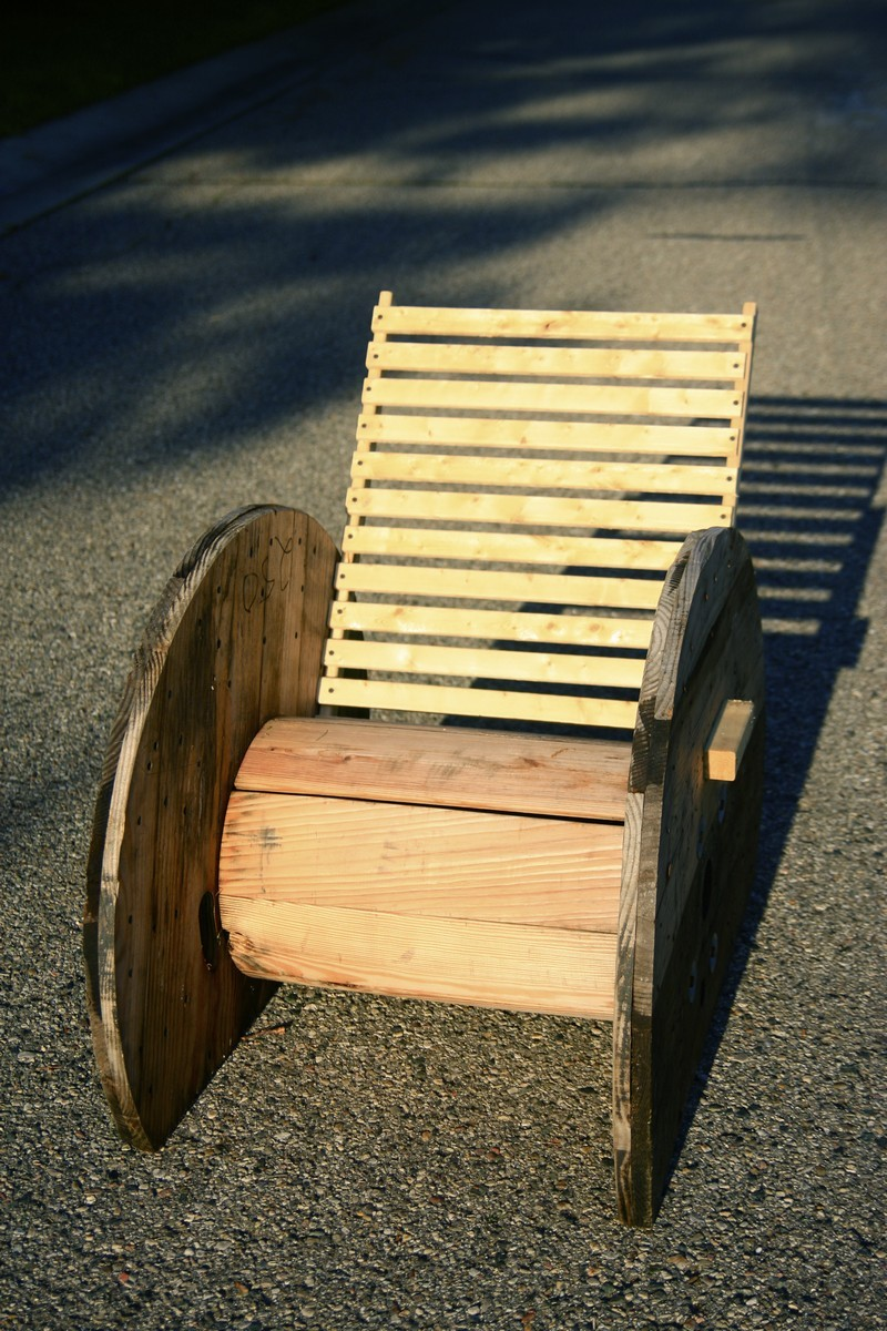 Wooden wire spool repurposing just b cause for Small wire spool ideas