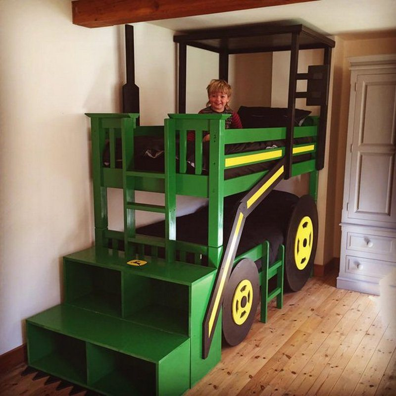 Build your kids a tractor bunk bed | The Owner-Builder Network