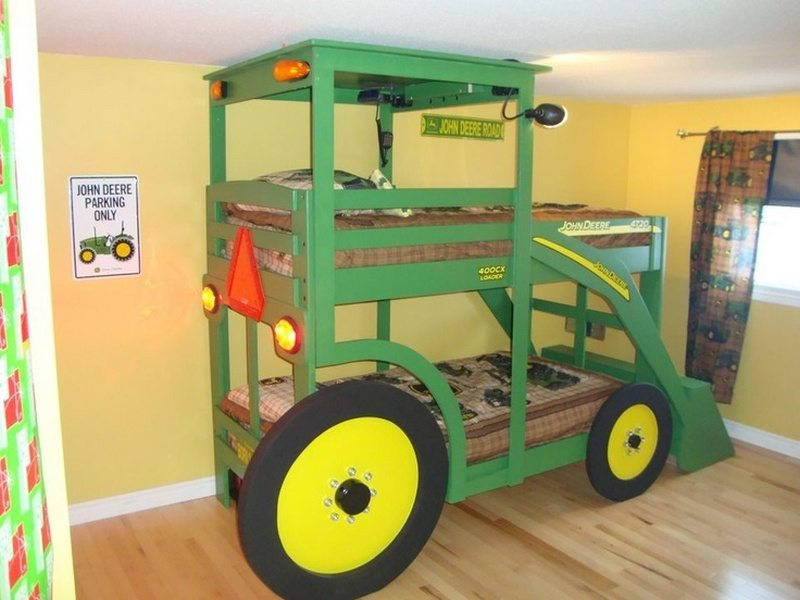Build Your Kids A Tractor Bunk Bed The Owner Builder Network