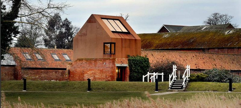 Like a hand in an old glove. Dovecote Studio by Haworth Tomkins Architects