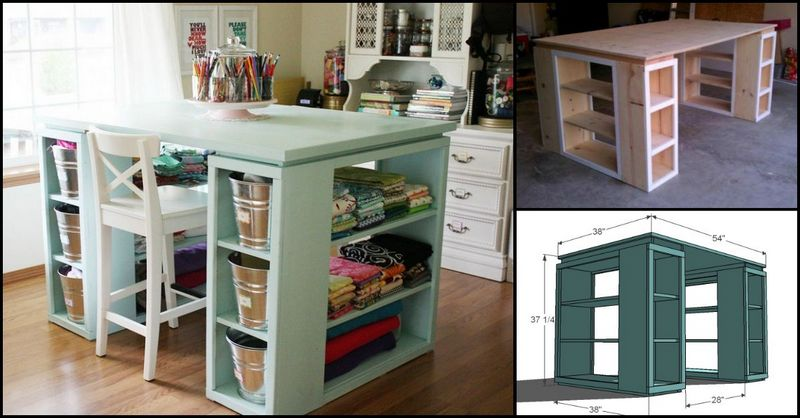 Simple diy craft supplies storage ideas the owner for Craft desk with storage