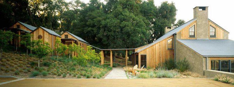 A home and three cabins in Carmel Valley...
