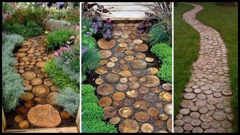 Log End Garden Pathway