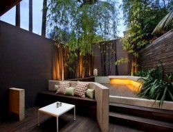 A well designed courtyard offers both visual and aural privacy