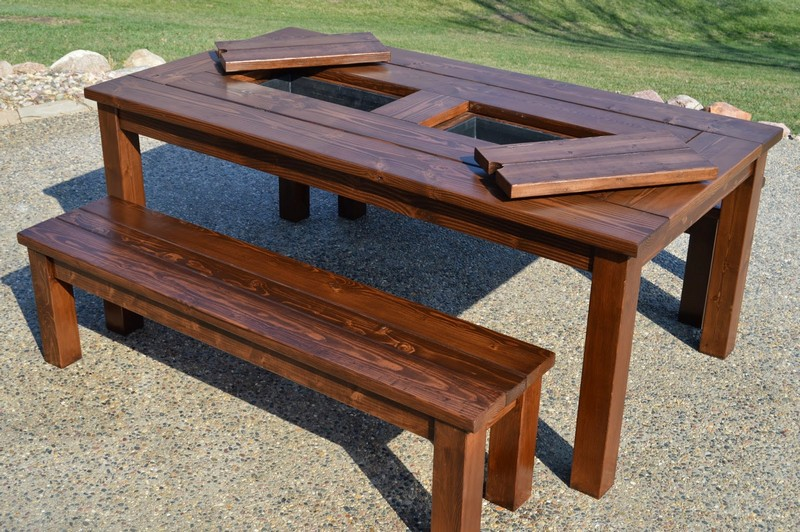 Tables with Built-In Cooler/Planter | The Owner-Builder Network