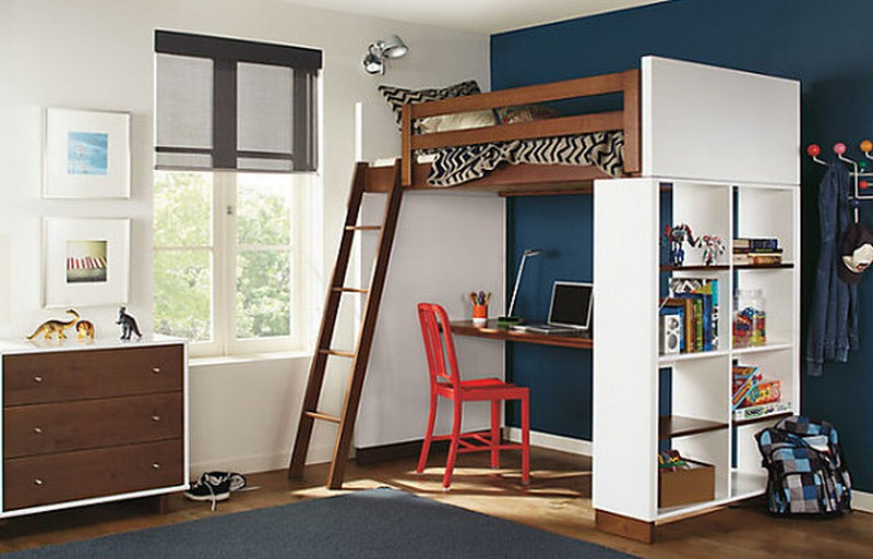 Loft beds with desks the owner builder network for Modern bunk bed with desk