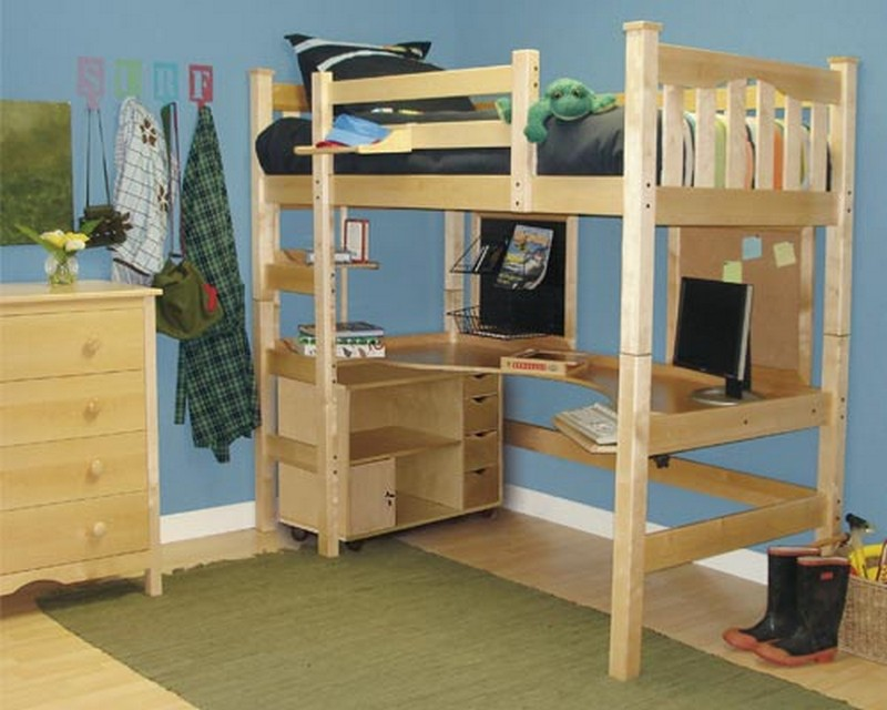 loft beds with desks the owner builder network - Free Loft Bed With Desk Plans